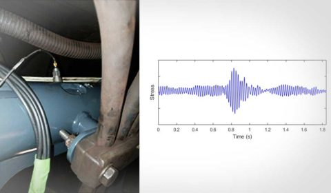 Determining the cause of cracks in bogie support